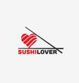 sushi lover logo vector image