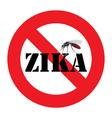 zika mosquito warning sign vector image