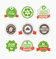 Food quality labels collection vector image vector image