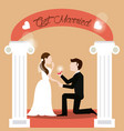 couple get married - man proposing woman vector image