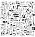 work tools - doodles vector image vector image