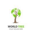 Logo tree world design green eco leaf icon nature vector image