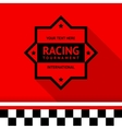 Racing stamp-04 vector image