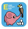ABC eagle elephant eggs vector image vector image