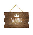 Summer Time Wooden Board vector image