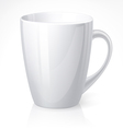 White cup vector image vector image