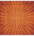 Sun with rays on grunge cloth texture vector image