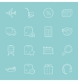 Logistics thin lines icons set vector image