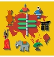 asia flat color travel vector image
