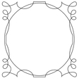 frame on a white background vector image