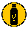 Usb flash button vector image vector image