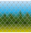 Mesh Fence with Background vector image