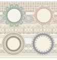 lacy napkins vector image vector image