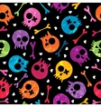 skulls seamless pattern vector image vector image