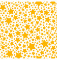 holiday gift seamless pattern with yellow star vector image