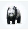 Modern polygon of giant panda vector image