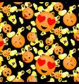popcorn and smileys vector image