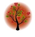 Tree growing berries and leaves vector image