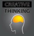 smart creative thinking brain vector image vector image