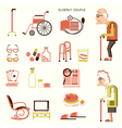 Elderly people and objects for life vector image