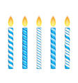 Blue Candles vector image vector image