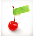 Sweet cherry for cocktails logo vector image vector image