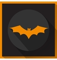 Bat icon with long shadow vector image
