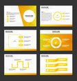 Gold presentation templates Infographic elements vector image