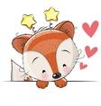Greeting card cute Fox vector image