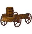 barrel and wagon vector image