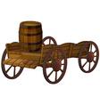 barrel and wagon vector image