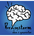Brainstorm idea generator vector image