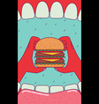 Eating burger vector image