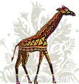 Giraffe with patterns vector image