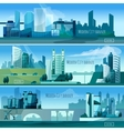 Modern Cityscapes Banners vector image