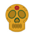skull the day of the death mexican traditional vector image