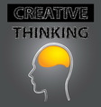 smart creative thinking brain vector image