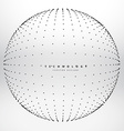 sphere made with black point dots vector image