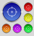 sight icon sign Round symbol on bright colourful vector image