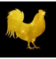 Godlen Fire Rooster Symbol vector image vector image