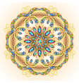 mandala brooch jewelry design element geometric vector image