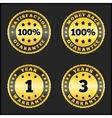 Guarantee Badges vector image vector image
