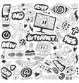Web Internet computers doodles vector image vector image