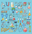 colored items of science biology and chemical vector image