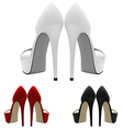 High-heeled blank shoes template vector image