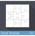 Puzzle Template 3x3 vector image vector image