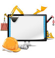Computer Construction Project vector image vector image