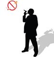 man looks at the no smoking sign vector image