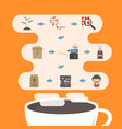 476coffee process infographic vector image