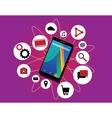 Multitasking phone cellphone ability running vector image